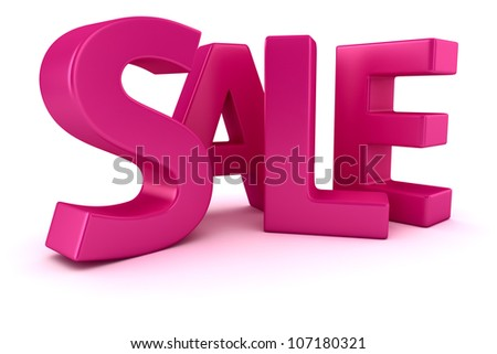 "Word ""Sale"" written by magenta letters - stock photo"