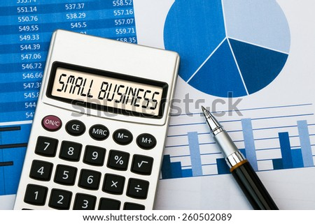 word small business displayed on calculator - stock photo