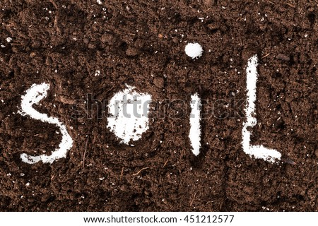 Word soil made letters on ground stock photo 451212577 for Words for soil