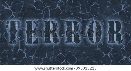 Word terror written on dangerous lava. - stock photo