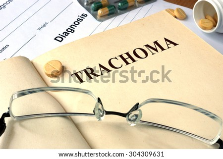 Word  Trachoma. Medical concept.
