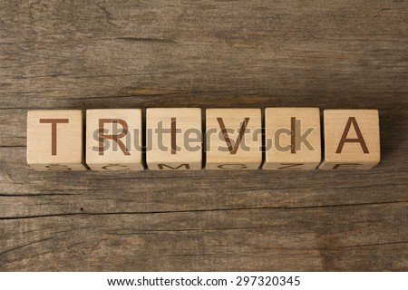 word trivia on wooden cubes - stock photo