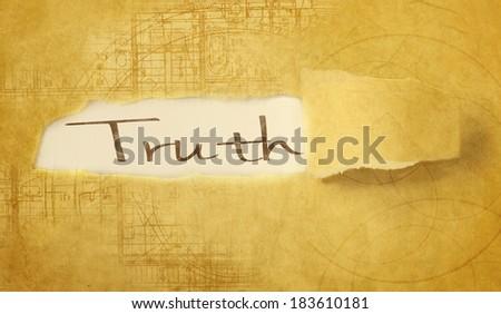word truth - stock photo