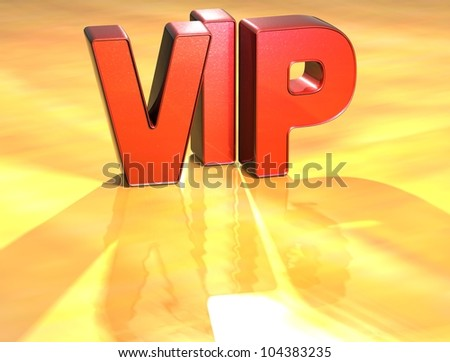 Word VIP on yellow background (high resolution 3D image) - stock photo