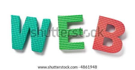 Word WEB isolated on the white background - stock photo
