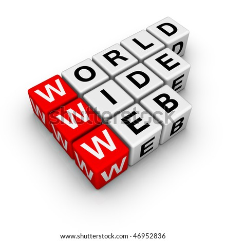 word wide web - stock photo