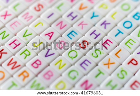 Word written on plastic blocks using for background. - stock photo
