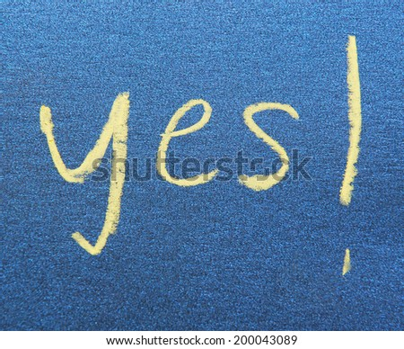 word yes - stock photo