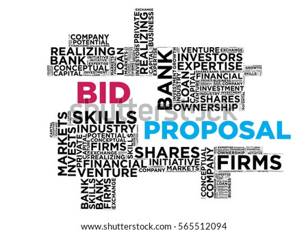 Wordcloud Bid Proposal Stock Illustration   Shutterstock