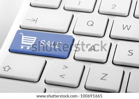 Wording Sale on computer keyboard - stock photo