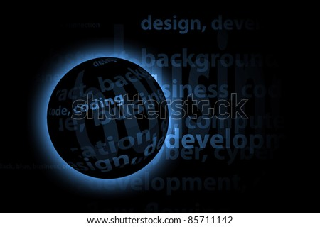 Words Business Background - stock photo