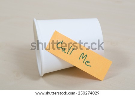 words Call Me written - stock photo