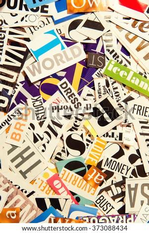 Words cut magazine background stock photo 373088434 shutterstock words cut from a magazine background publicscrutiny Choice Image