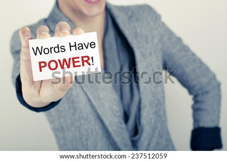 Words Have Power / Business Quote Phrase Note - stock photo