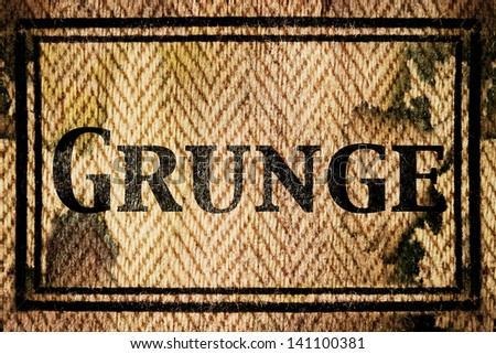 words in Grunge background, isolated text in vintage letterpress - stock photo