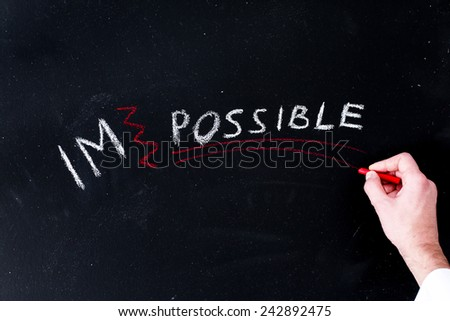 Words of success on the table - stock photo