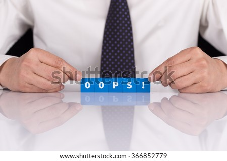 Words OOPS! with blocks - stock photo
