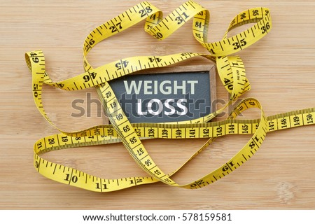 words weight loss written on chalkboardの写真素材 ロイヤリティ