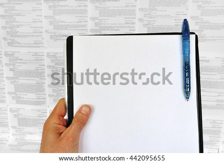 Work advertisement board job search opportunity - stock photo