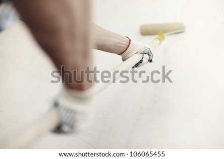 work aligns with a spatula wall - stock photo