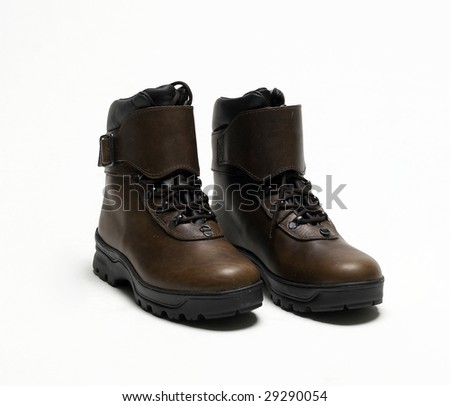 Work boot isolated on a white background