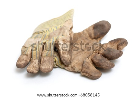 Work gloves - stock photo