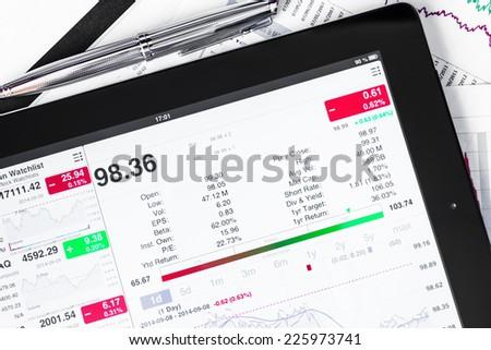 Work in stock exchange - stock photo