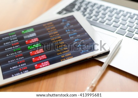 Work in stock exchange - stock photo