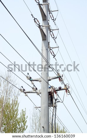 Work in the high-voltage poles