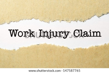 Work injury claim - stock photo