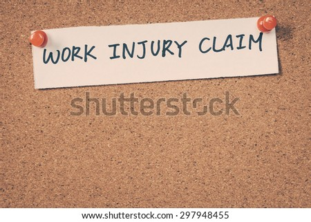 Work injury claim - stock photo