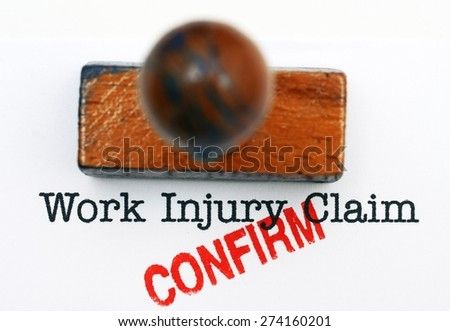 Work injury claim - approved - stock photo