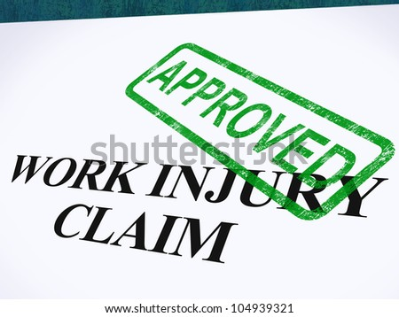 Work Injury Claim Approved Showing Medical Expenses repaid - stock photo