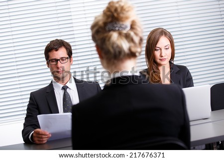 Work interview - stock photo