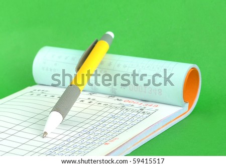 work invoice with Ball-pen ready for order