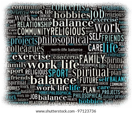 Work-Life Balance Concept in Word Collage