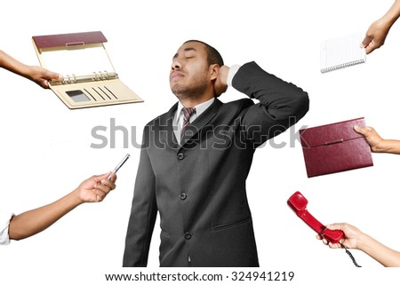 work overload - stock photo