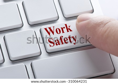 Work Safety button on keyboard, Industrial concept - stock photo