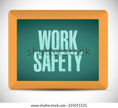 work safety message illustration design over a white background - stock photo