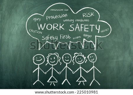 Work Safety Word Cloud Concept - stock photo