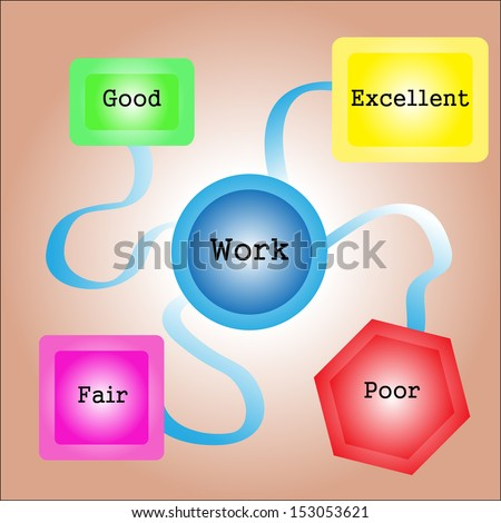 Work selecting excellent evaluation - stock photo