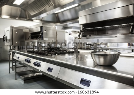 Merveilleux Work Surface And Kitchen Equipment In Professional Kitchen