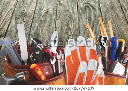 Work Tool. Bag of tools - stock photo