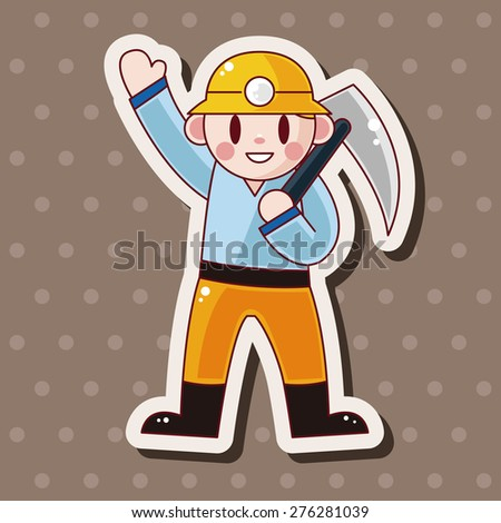 worker , cartoon sticker icon