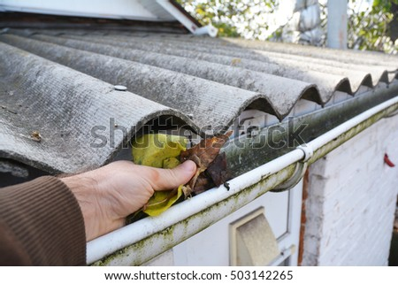 Gutter Cleaning Stock Images Royalty Free Images