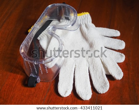 Worker Glove and Goggles