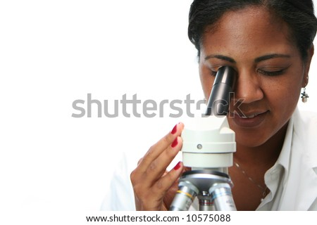 Worker in a lab - stock photo