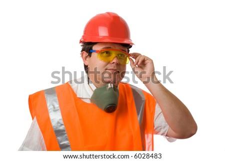 worker in eyeglasses - stock photo
