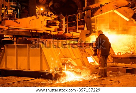 Worker in metallurgical processes production.