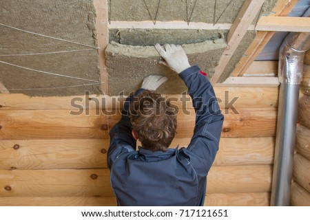 Insulation stock images royalty free images vectors for Mineral wool installation